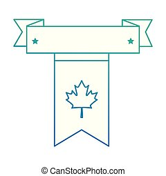 canadian flag garland hanging