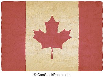 canadian flag in retro colors vintage background