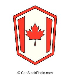 canadian flag in shield