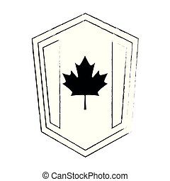 canadian flag isolated icon