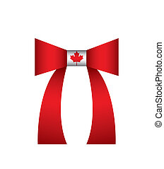 Canadian flag  on a bow tie