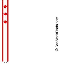 Canadian flag ribbon maple leaf frame abstract design.