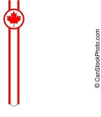 Canadian flag ribbon maple leaf frame abstract design