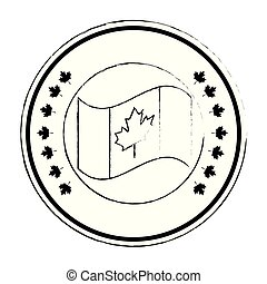 canadian flag seal stamp