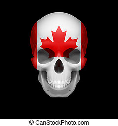 Canadian flag skull
