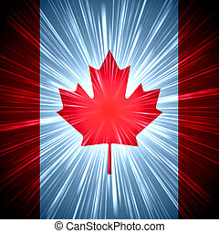 Canadian flag - Abstract background Canadian national flag...