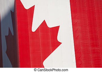 Canadian Flag on a building corner for background