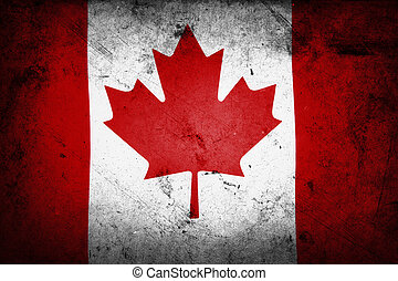 Canadian flag - Grunge textered effect Canadian flag