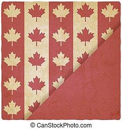 canadian flag symbols vintage background