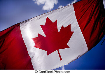 Tattered Canadian flag