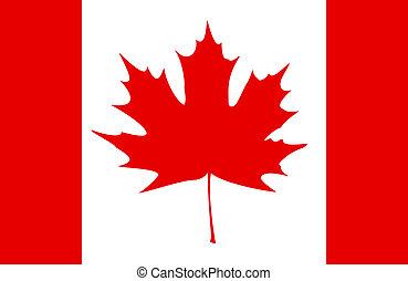 Canadian Flag - Stylized Canadian flag. EPS10 vector...