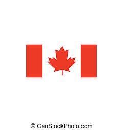 canadian flag vector illustration