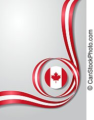 Canadian flag wavy background. Vector illustration.