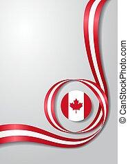 Canadian flag wavy background. Vector illustration.