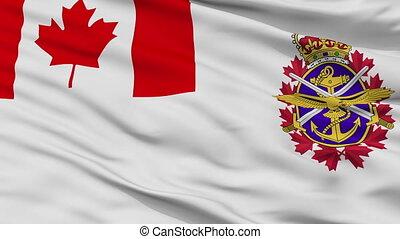 Canadian Forces Flag Closeup Seamless Loop