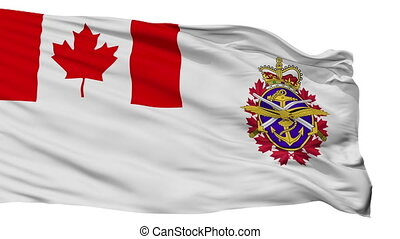 Canadian Forces Flag Isolated Seamless Loop