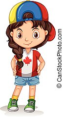 Canadian girl with a hat