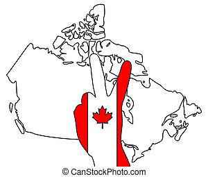 Canadian hand signal