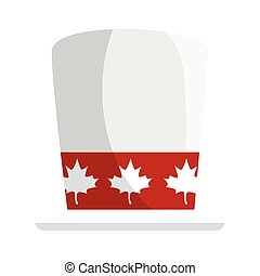 Canadian hat of happy canada day vector design