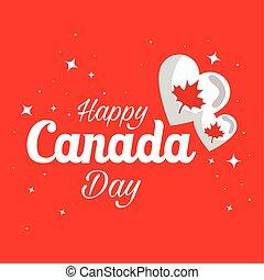 Canadian hearts of happy canada day vector design