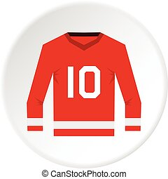 Canadian hockey jersey icon circle
