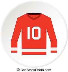 Canadian hockey jersey icon circle