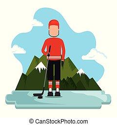 canadian hockey player scene