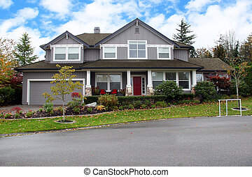 Canadian house - Beautiful upscale mansion in a Canadian...