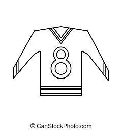 canadian jersey hockey ice graphic outline