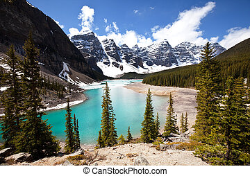 Canadian lake - Moraine lake in Canada