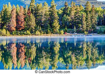 Canadian Landmark: Patricia Lake at Jasper National Park