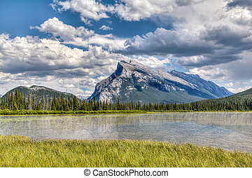 Canadian Landmark: Vermilion Lakes in the Summer
