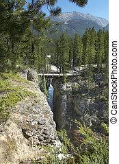 Canadian landscape in Athabasca falls. Alberta. Canada