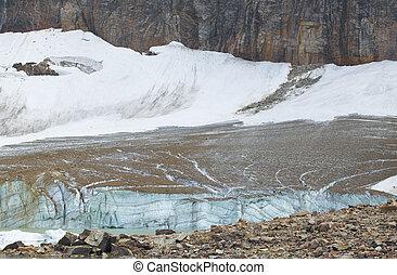 Canadian landscape with Mount Edith Cavell glacier Jasper. Alber