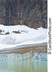 Canadian landscape with Mount Edith Cavell. Jasper. Alberta. Can
