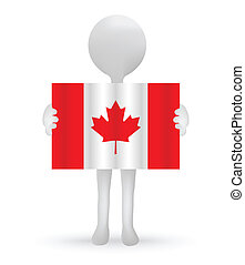 canadian lobogó, birtok, kicsi, 3, ember