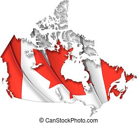 Canadian Map-Flag