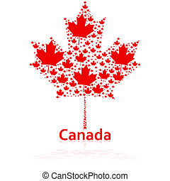Canadian maple leaf - Concept illustration showing a...