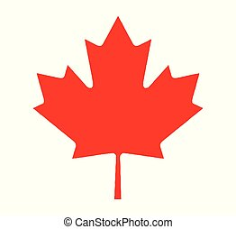 Canadian Maple Leaf From Flag - The canadian maple leaf icon...
