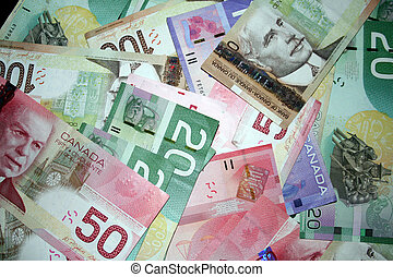 Canadian money background