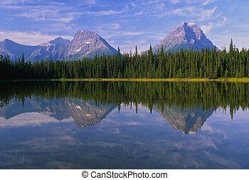 Canadian Mountain Lake Reflection