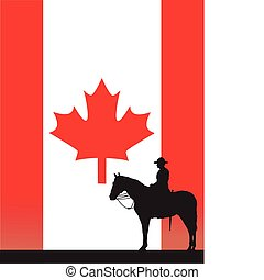 Canadian Mountie - The silhouette of a Canadian Mounted...