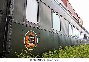 Canadian National Railways Museum Car - Old green car from...