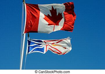 Canadian & Newfoundland Flags
