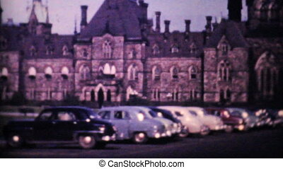 Canadian Parliament Buildings 1958 - A shot of the Canadian...