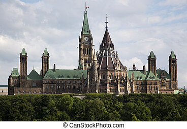 Canadian Parliament in Ottawa - View of th Canadian...