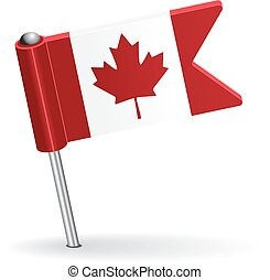 Canadian pin icon flag. Vector illustration Eps 8.