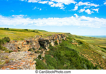 Canadian Prairie at Head-Smashed-In Buffalo Jump
