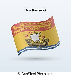 Canadian province of New Brunswick flag waving form.