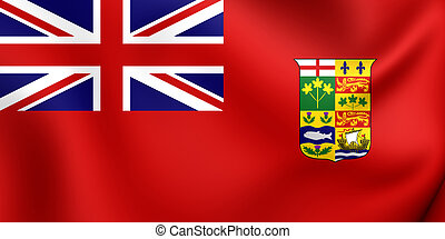 Canadian Red Ensign (1868-1921). Close Up.